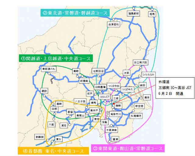 ETC二輪車車「ツーリングプラン」首都圏コース