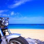 夏のオートバイ