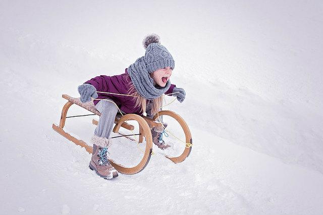 冬景色の子供