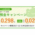筑波銀行ガマぐち支店限定ガマぐち支店オープン記念定期預金キャンペーン